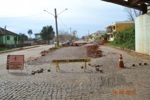 Recuperado Calçamento da Av. Carlos Gomes de Abreu