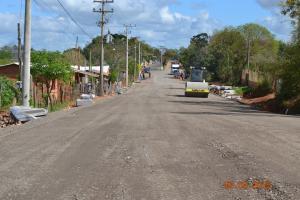 Prolongamento da Avenida Pe. Roque e Calçamento de ruas do Bairro Marcial Terra prossegue normalmente