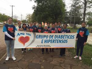 II Caminhada do Grupo de Hipertensos e Diabéticos do ESF 2 do Bairro Gaúcha