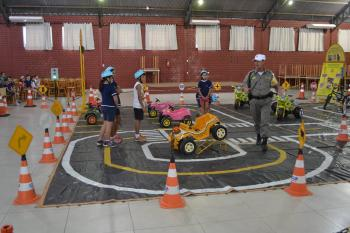 Escolinha de Trânsito iniciou nesta segunda para alunos da rede municipal de ensino