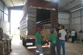 ARMDAT entrega primeira carga de reciclados