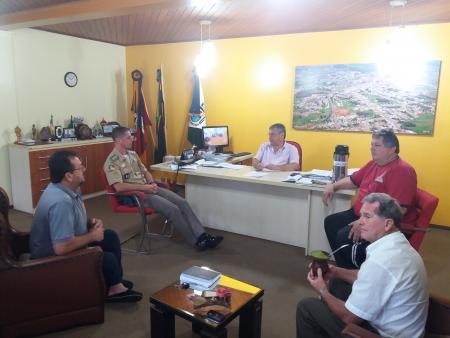 Visita do Comandante Regional
