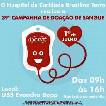 Campanha do HCBT para doação de Sangue