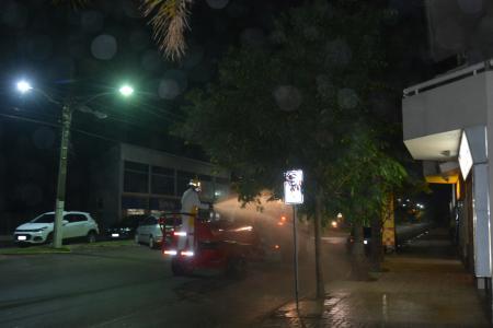 Sanitização tem sua terceira aplicação na cidade