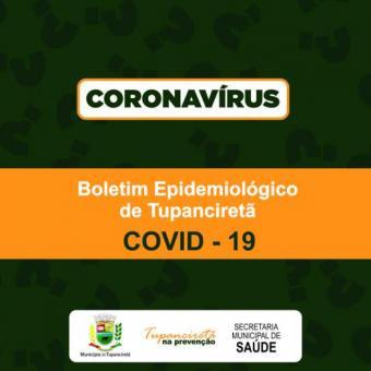 Boletim Diário de casos Covid 19 em Tupanciretã
