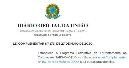 Lei Federal Complementar que trata de Auxílio Federal aos Municípios suspende progressões de carreir