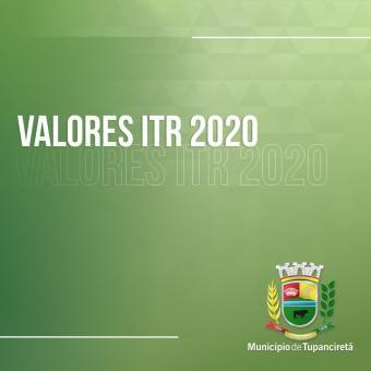 Valor da Terra Nua para o 2020 do ITR