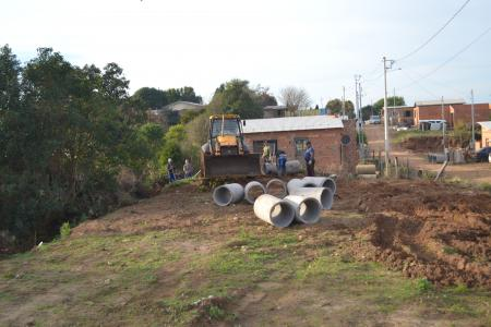 Conclusão de Tubulação de Saneamento na Pedreira