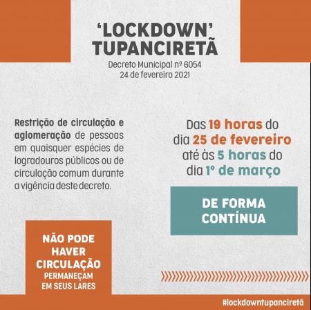 Lockdown inicia hoje em Tupanciretã