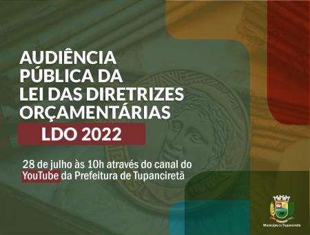 Executivo realiza Audiência Pública da Lei das Diretrizes Orçamentárias nesta quarta-feira