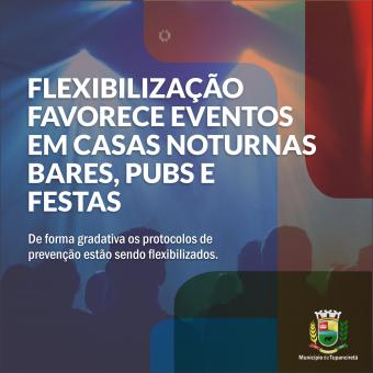 Flexibilização de protocolos de prevenção da covid-19 para festas, casas noturnas e similares